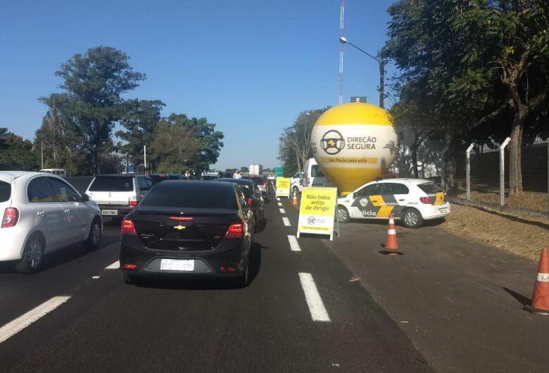 Operação flagra 17 motoristas dirigindo alcoolizados na Washington Luis, em São Carlos