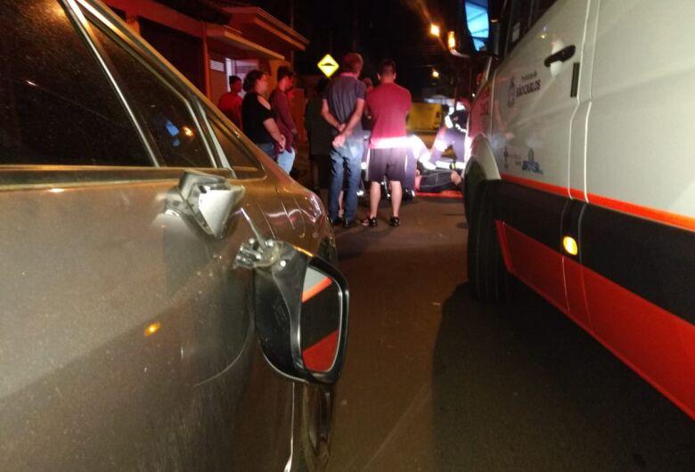 Ciclista sofre acidente na Padre Teixeira