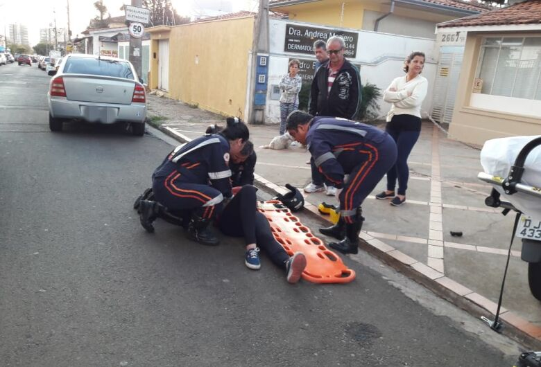 Motociclista sofre acidente na Vila Nery