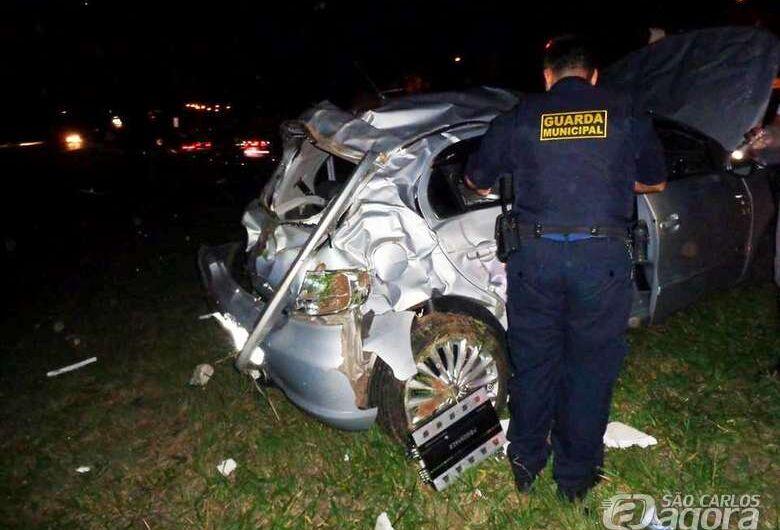 Casal de Ibaté sofre grave acidente na Washington Luís