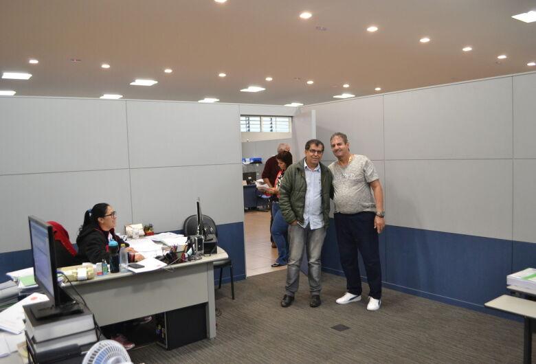 Zé Parella recebe a visita do prefeito de Brodósqui