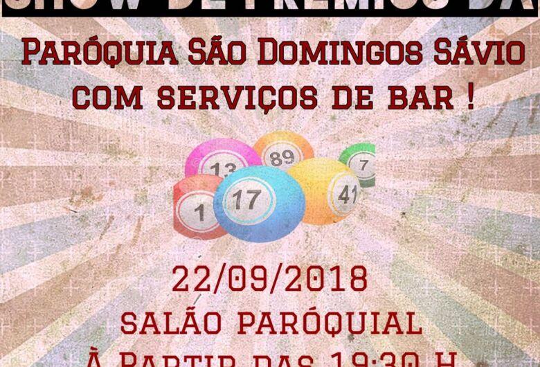 Paróquia São Domingos Sávio realiza show de prêmios