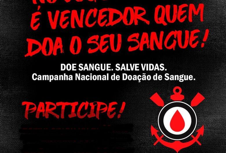 Sangue Corinthiano faz campanha de doação de sangue em São Carlos