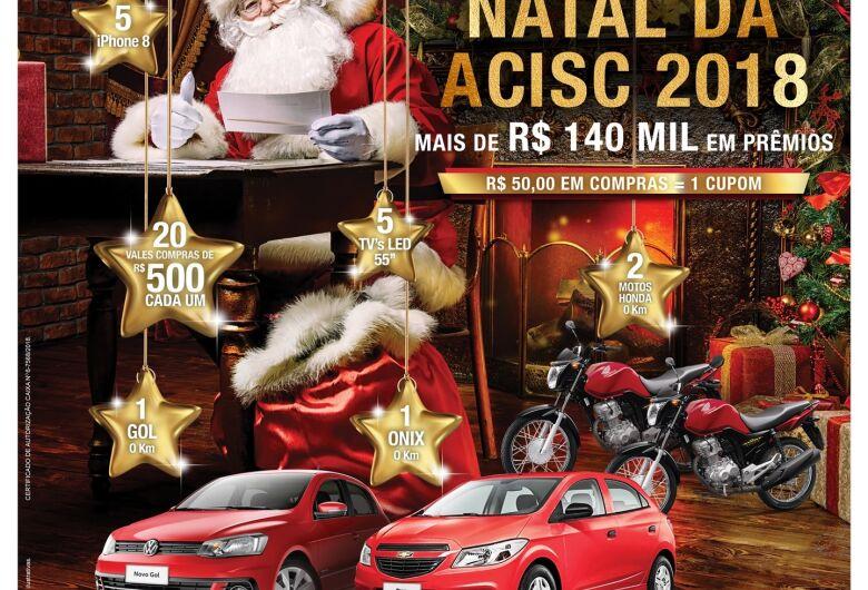 Acisc divulga lojas participantes da sua campanha de Natal 2018