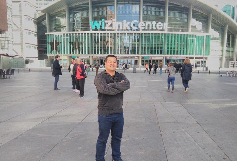 Adriano Wada realiza intercâmbio no Mundial de Madrid