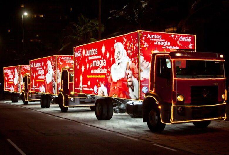 Caravana de Natal da Coca-Cola passará pelas ruas do Centro de São Carlos nesta terça-feira