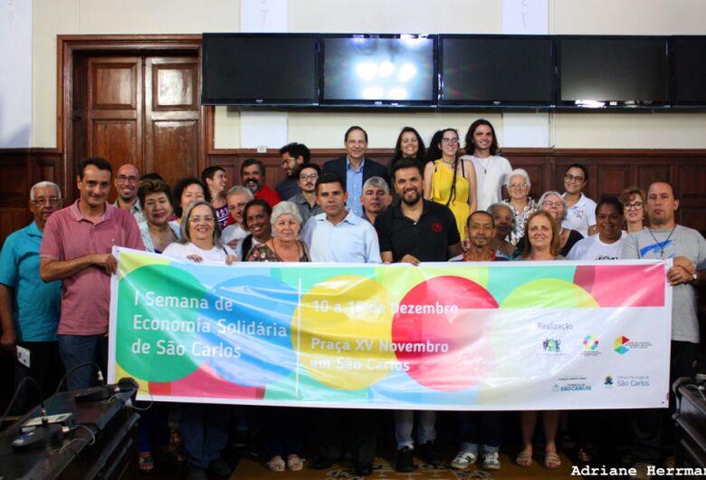 Rodson participa da abertura da I Semana de Economia Solidária
