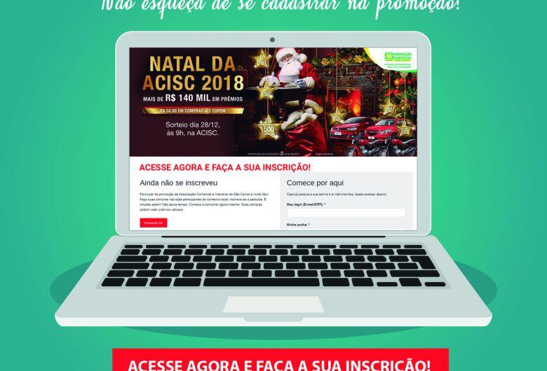 Acisc orienta consumidores para se inscrever na promoção de Natal