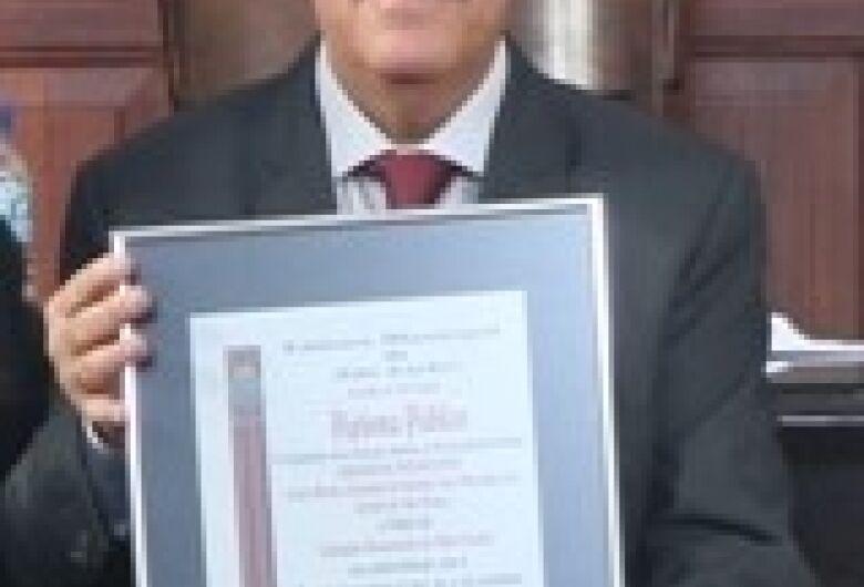 Grão-Mestre da Loja Maçônica recebe título de Cidadão Honorário de São Carlos