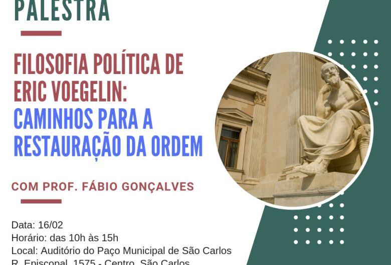Palestra sobre política acontece no auditório do Paço Municipal