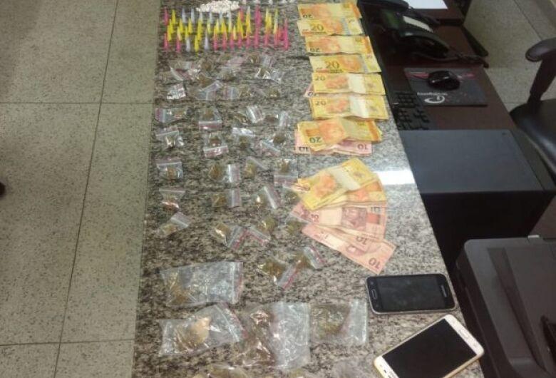 PM apreende grande quantidade de drogas em Itirapina