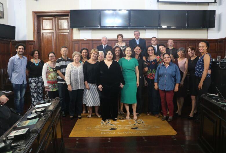 Sessão solene na Câmara homenageia as Bibliotecárias do Ano