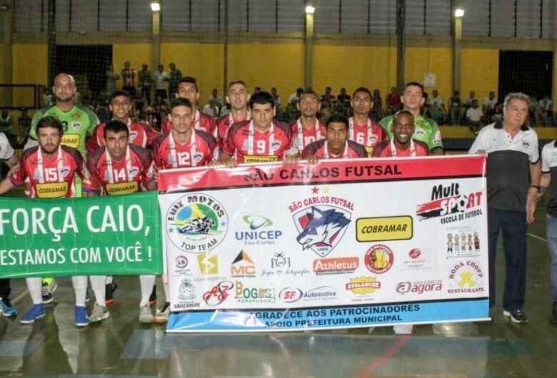 Goleiro de Américo Brasiliense para ataque e São Carlos Futsal fica no empate