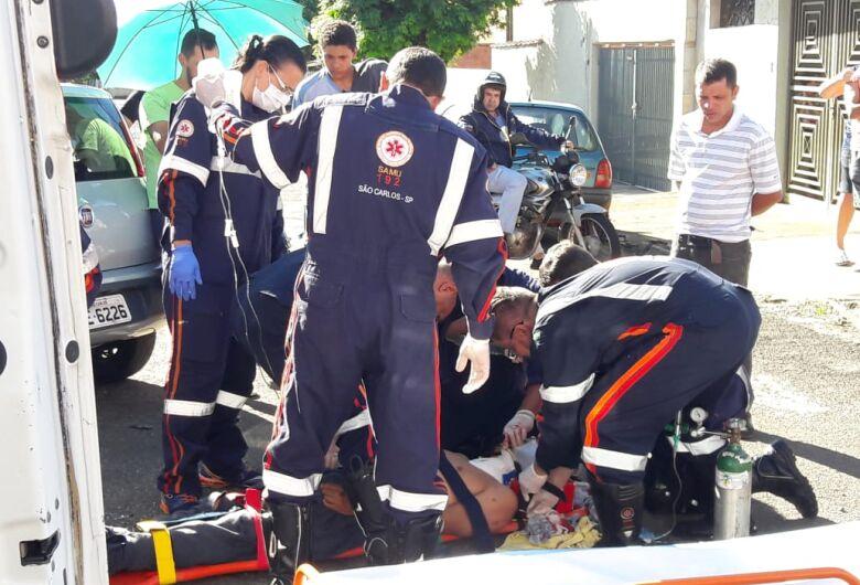 Motociclista sofre ferimentos graves após colisão na Redenção