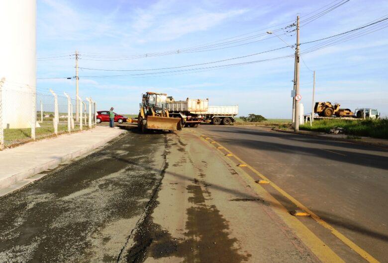 Secretaria de Transporte e Trânsito realiza intervenções em vias da região central e do Araucária
