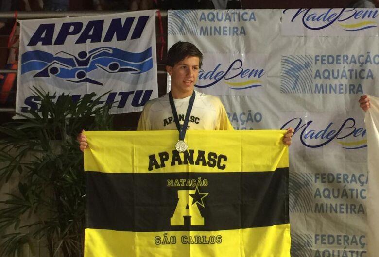 Nadador da Apanasc/Smec é vice-campeão brasileiro