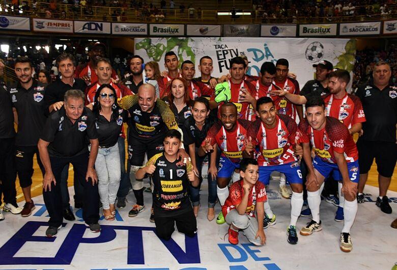 São Carlos Futsal goleia Descalvado e confirma título inédito na Taça EPTV