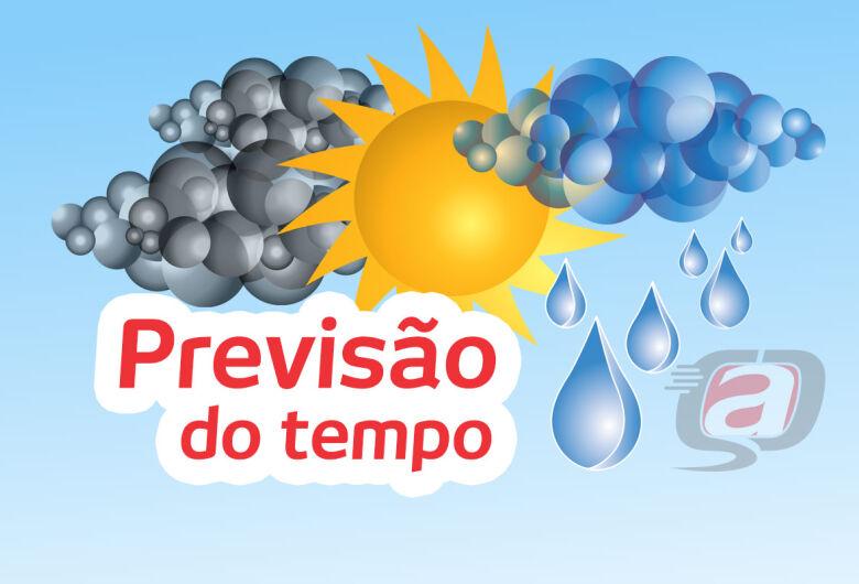 Pode chover na quarta-feira; confira a previsão do tempo