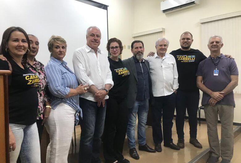 Deputada federal Carla Zambelli é recebida pela provedoria da Santa Casa de São Carlos