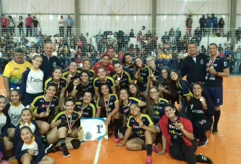 Handebol de São Carlos ficou em primeiro lugar mais uma vez nos Jogos Regionais de Botucatu