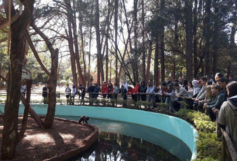 Jovens da Children's International Summer Villagesvisitam Parque Ecológico de São Carlos