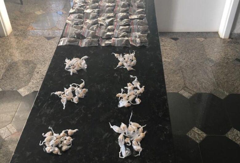 PM apreende drogas em residência em Ibaté