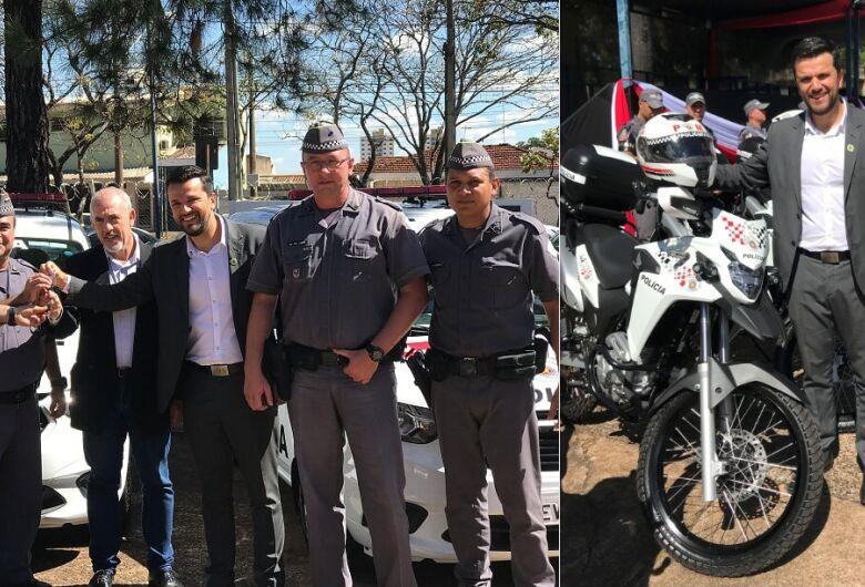 Rodson participa de entrega de viaturas da Policia Militar para São Carlos