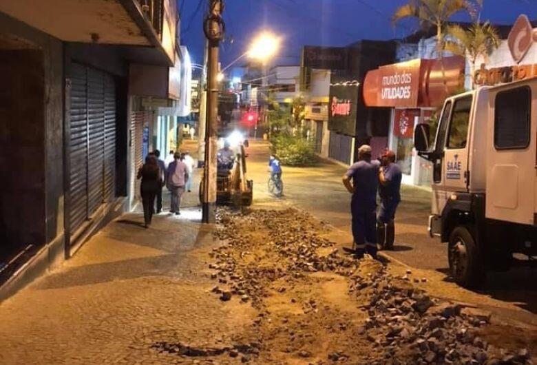 Prefeitura e ACISC iniciam obras de revitalização do Calçadão
