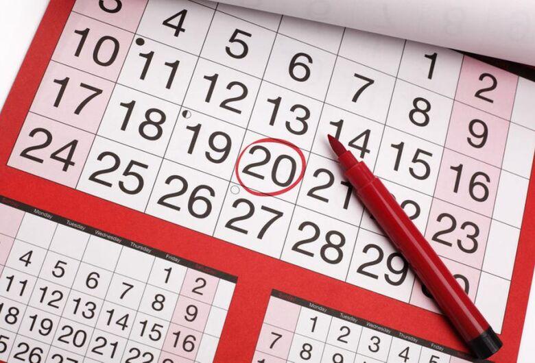 2020 terá o dobro de feriados prolongados