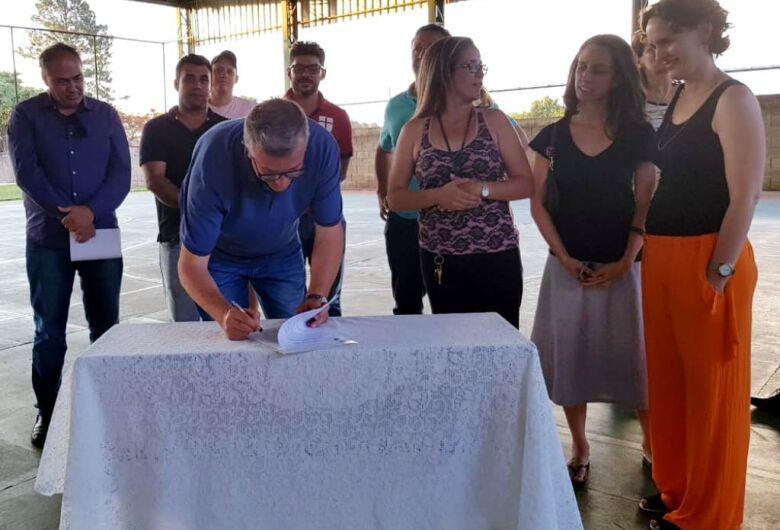 Assinada a ordem de serviço para início da reforma e ampliação da EMEB Antonio Stella Moruzzi