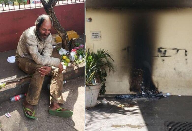 Morador de rua é queimado em cidade da região