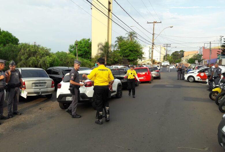 Carros de aplicativo são apreendidos durante operação em São Carlos