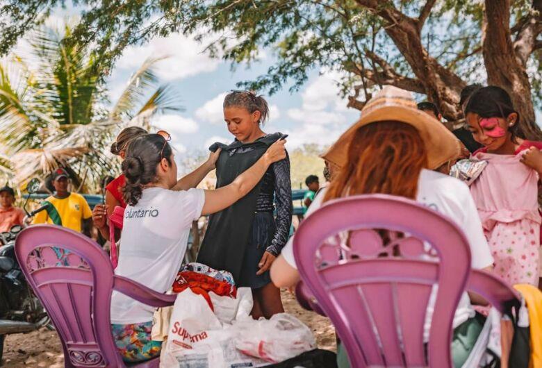 Projeto As Vestideiras vai doar no Natal camisetas e vestidos para 450 crianças de Santa Eudóxia
