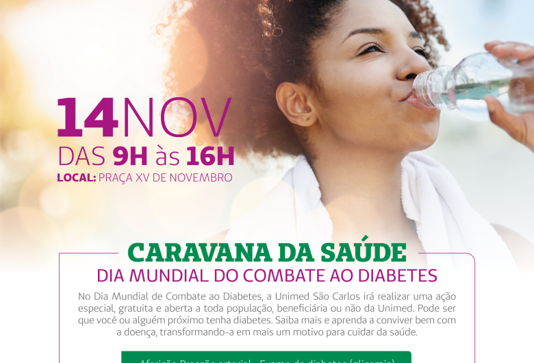 Unimed vai realizar evento no Dia Mundial de Combate ao Diabetes