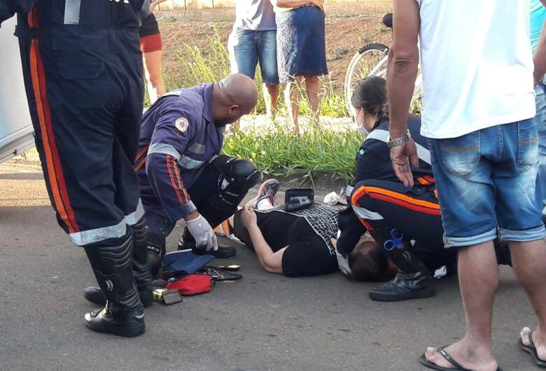 Mulher sofre fratura após ser atropelada no Jockey Clube