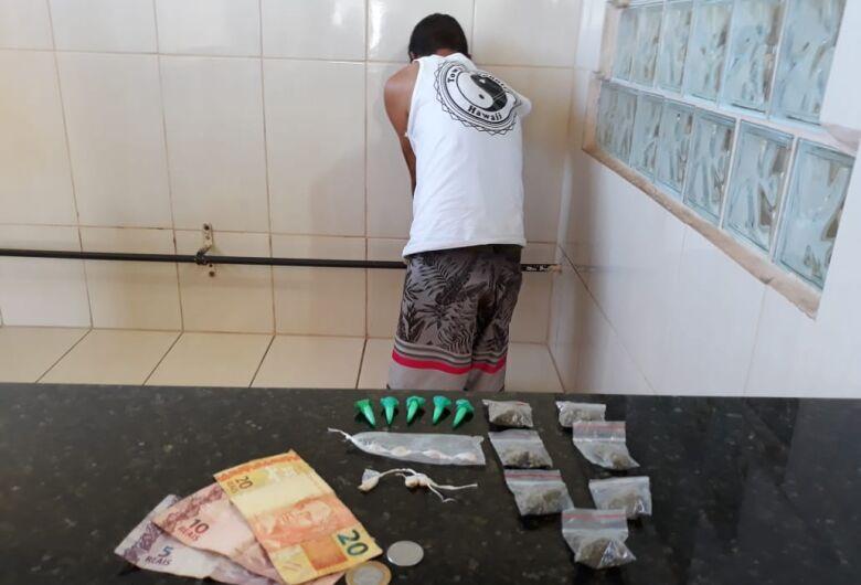 Jovem é preso por tráfico na Vila Jacobucci