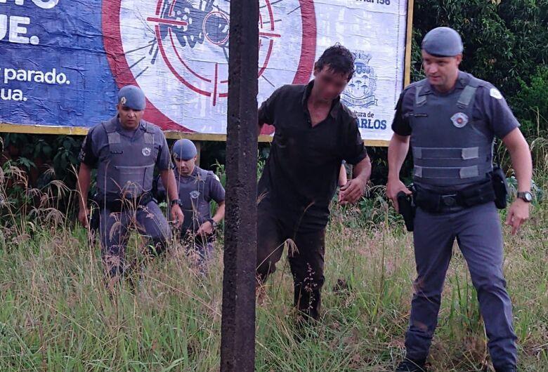 Homem é preso após tentar furtar residência e fugir pulando telhados no Jardim Dona Francisca