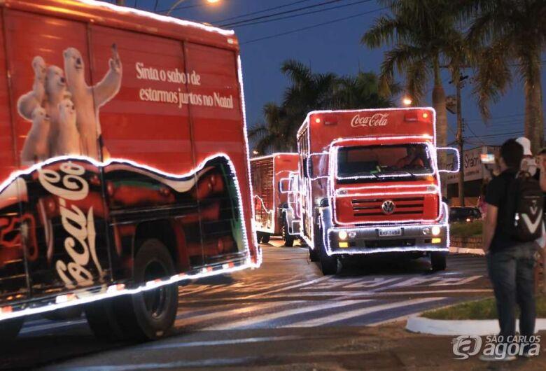 É hoje! Caravana de Natal da Coca-Cola chega em São Carlos; confira o trajeto