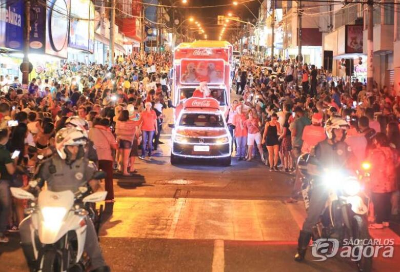 Caravana Iluminada da Coca-Cola chega a São Carlos no dia 11
