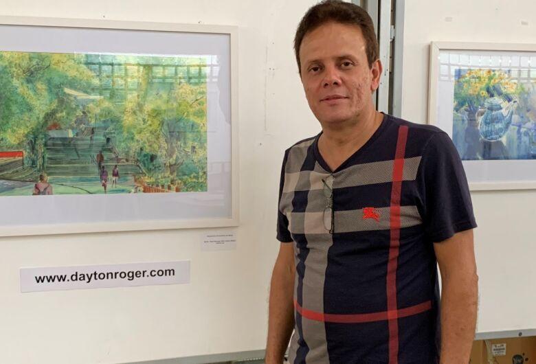 Biblioteca Comunitária da UFSCar apresenta exposição de telas em aquarela