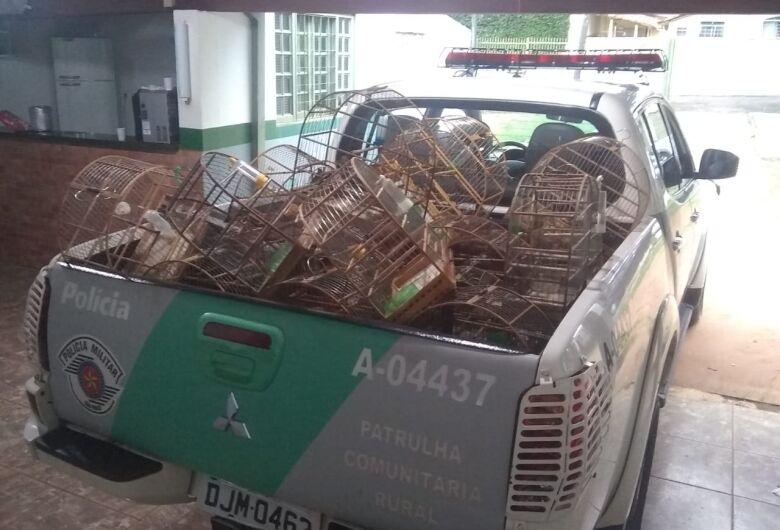Polícia Ambiental detém acusado de manter aves silvestres em cativeiro