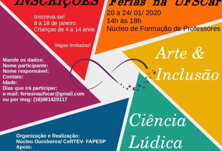 Projeto Férias na UFSCar acontece com atividades de arte, ciência e esportes