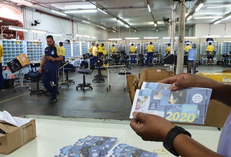 Carnês do IPTU 2020 já estão nos Correios para início da distribuição
