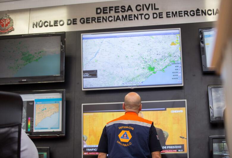 Defesa Civil estadual alerta para possibilidade de chuvas intensas até sexta-feira