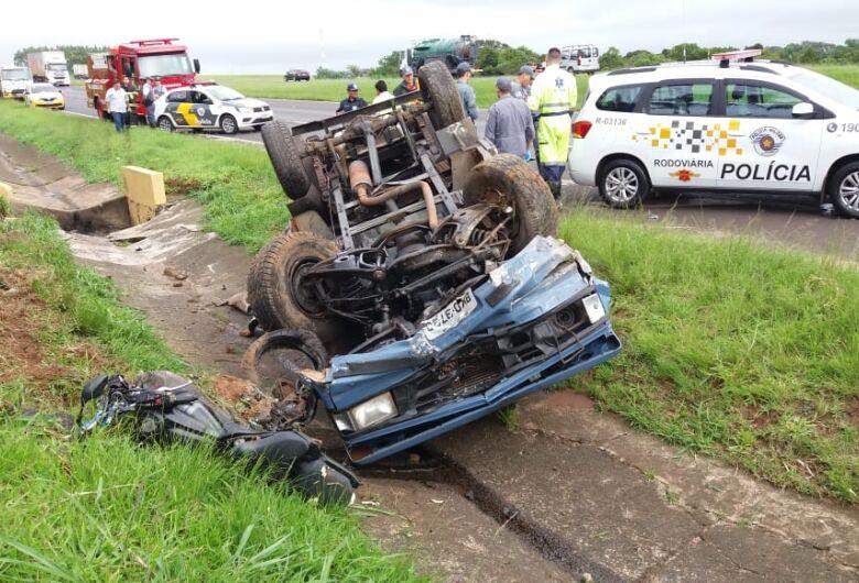 Grave acidente mata motociclista na SP-310 em Ibaté