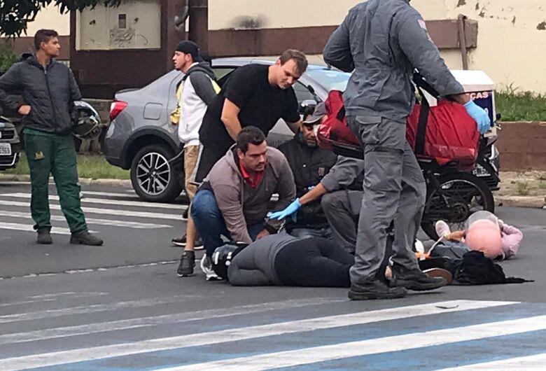 Acidente com duas motos deixa três pessoas feridas ao lado do CEME