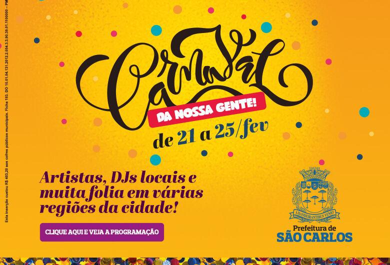 Carnaval da Nossa Gente leva a folia para várias regiões de São Carlos