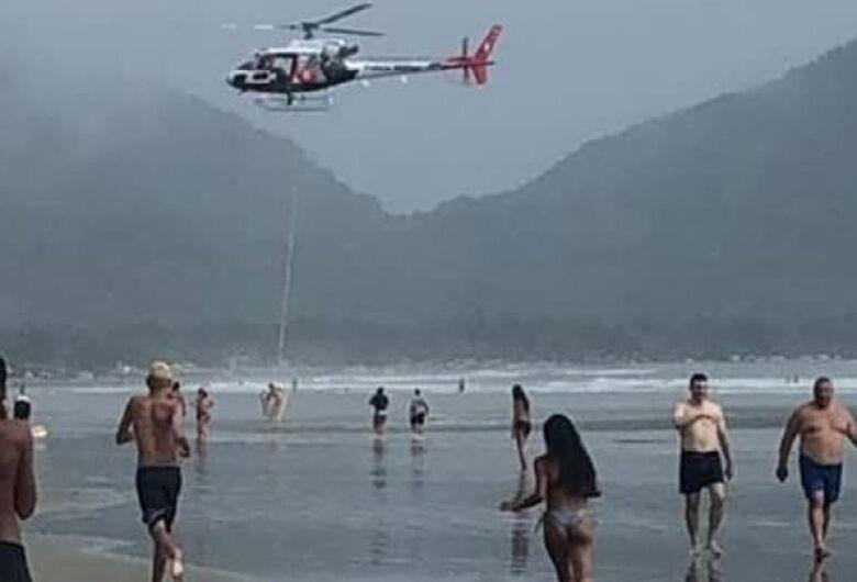 Turista de Ribeirão Preto morre afogado em Ubatuba