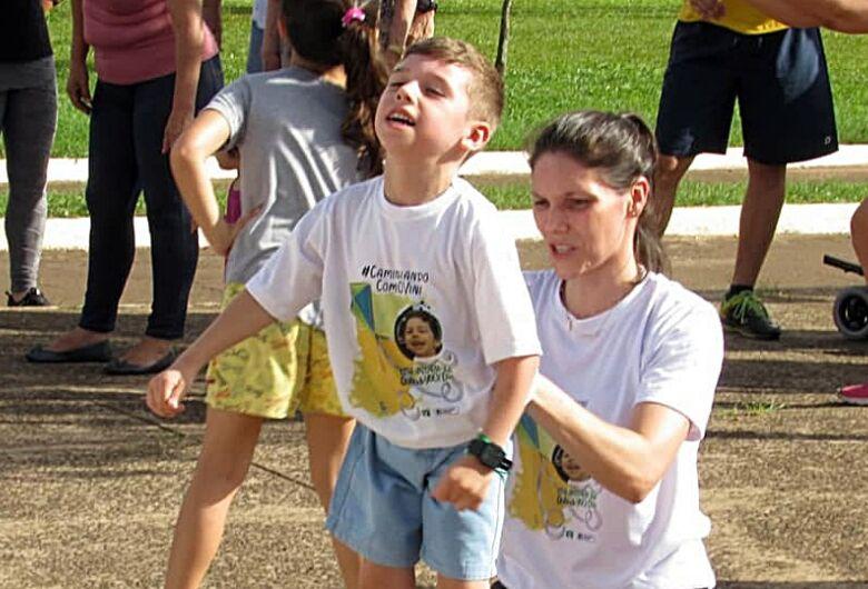 Corrida e caminhada solidárias irão ajudar no tratamento do pequeno Vini