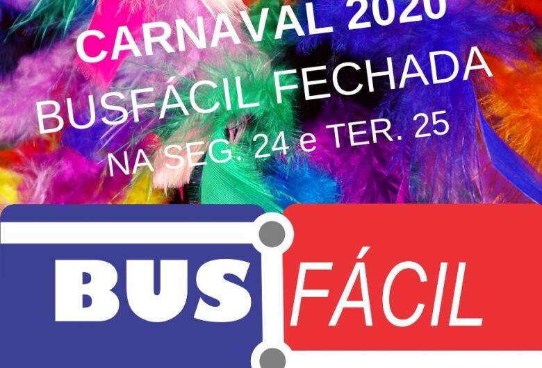 Suzantur divulga horário da Busfácil no Carnaval